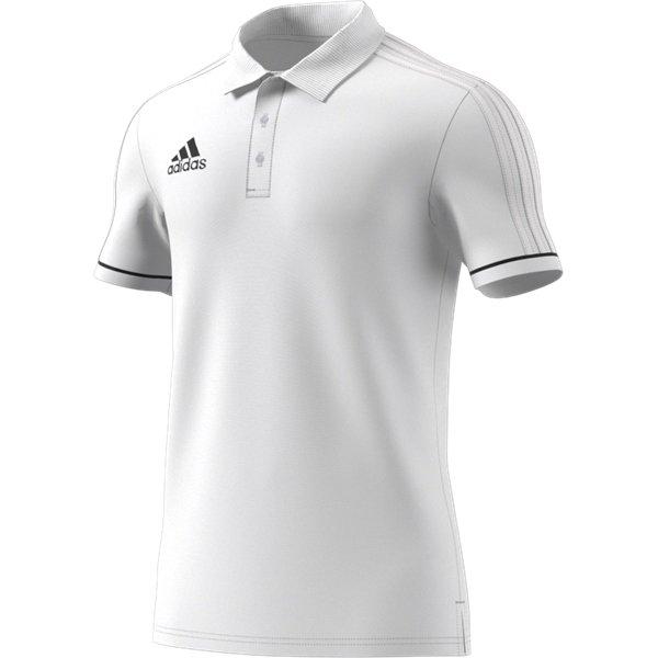 adidas Tiro 17 White/Black Cotton Polo Youths