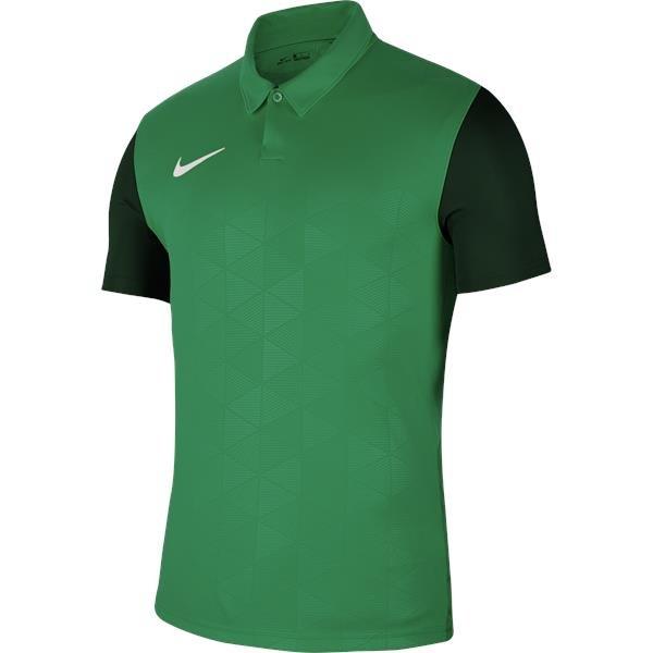 Nike Trophy IV SS Football Shirt Pine Green/Gorge Green