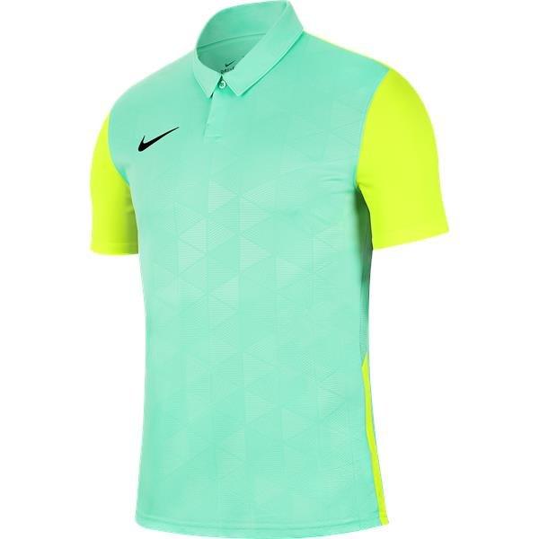 Nike Trophy IV SS Football Shirt Hyper Turq/Volt