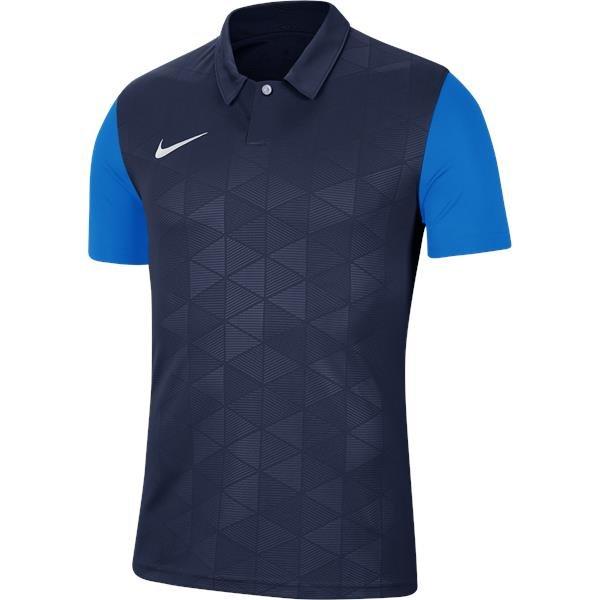 Nike Trophy IV SS Football Shirt Mid Navy/Photo Blue