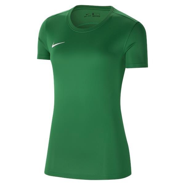 Nike Womens Park VII Football Shirt Pine Green/White