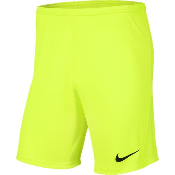 Nike Park III Knit Short Volt/Black