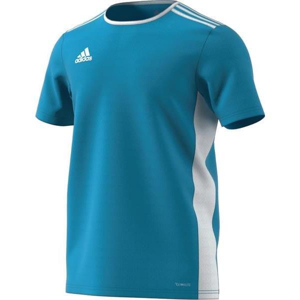 adidas Entrada 18 Clear Blue/White Football Shirt