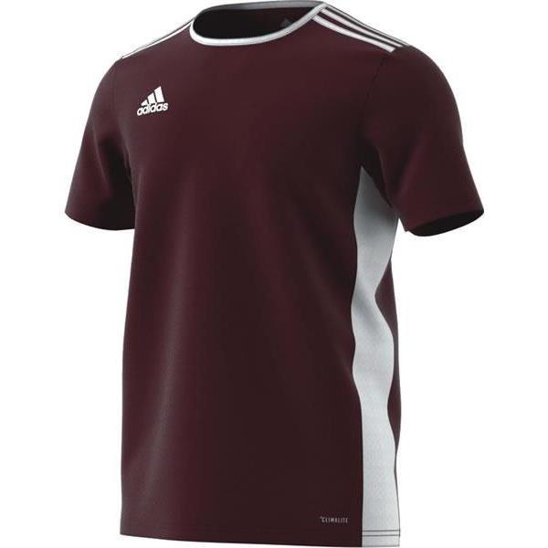 adidas Entrada 18 Maroon/White Football Shirt