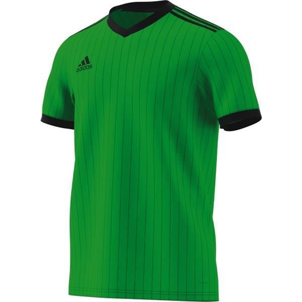 adidas Tabela 18 SS Semi-Solar Green/Black Football Shirt