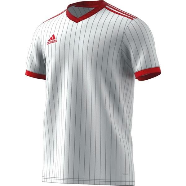 b93e81120ec adidas Tabela 18 SS White Power Red Football Shirt