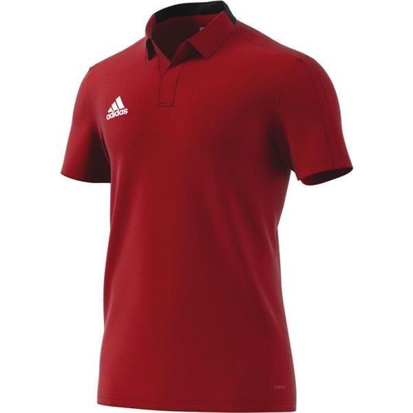 adidas Condivo 18 Power Red/Black Cotton Polo
