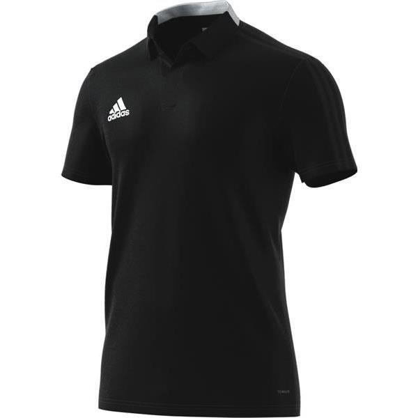 adidas Condivo 18 Black/White Cotton Polo Youths