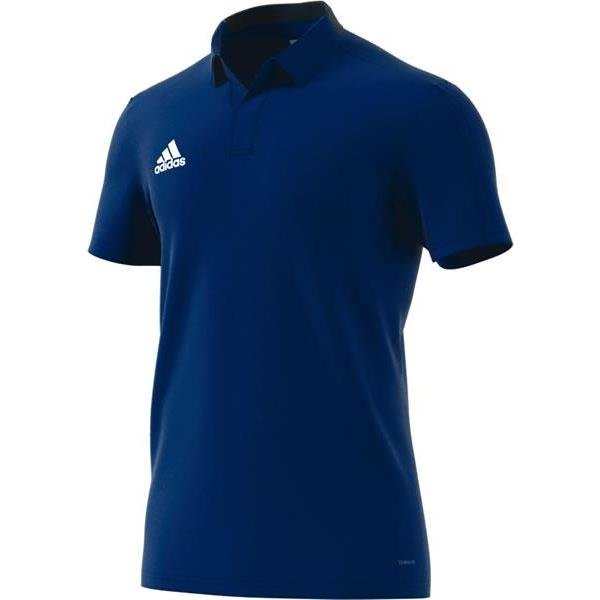 adidas Condivo 18 Bold Blue/Dark Blue Cotton Polo