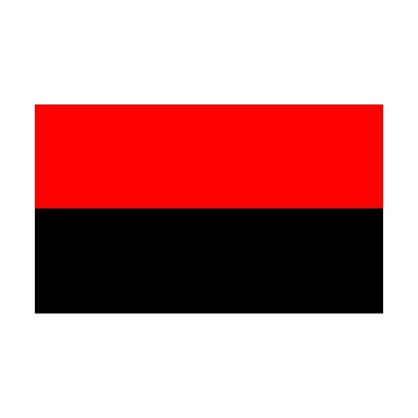 2 Colour Corner Flags Black/Red