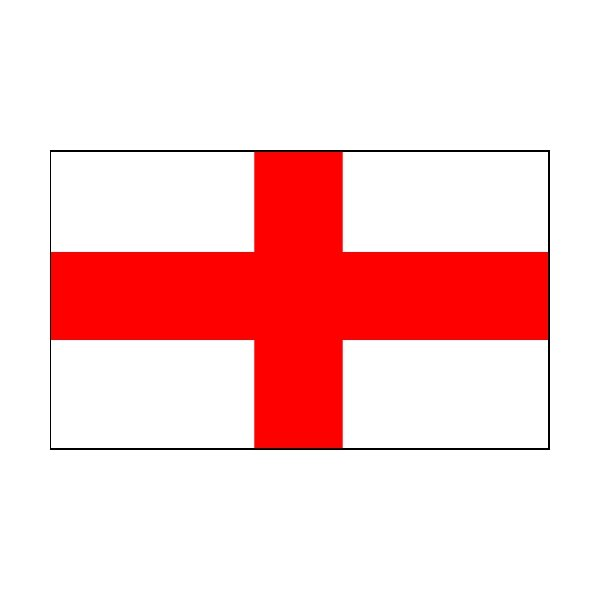 2 Colour Corner Flags England