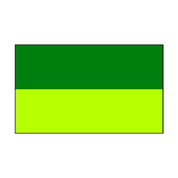 2 Colour Corner Flags Green/Yellow