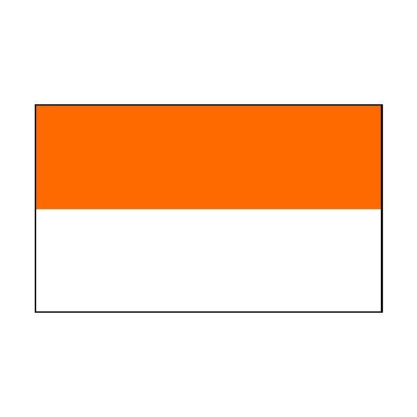 2 Colour Corner Flags Orange/White