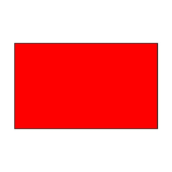 1 Colour Corner Flags Red