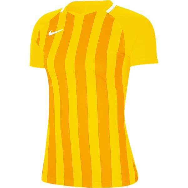 Nike Womens Striped Division III Football Shirt Tour Yellow/Uni Gold