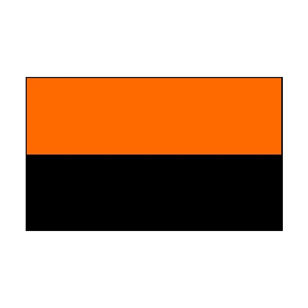 4 Corner Posts & 2 Colour Flags Black/Orange Flags