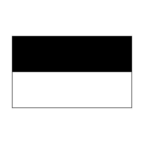 4 Corner Posts & 2 Colour Flags Black/White Flags