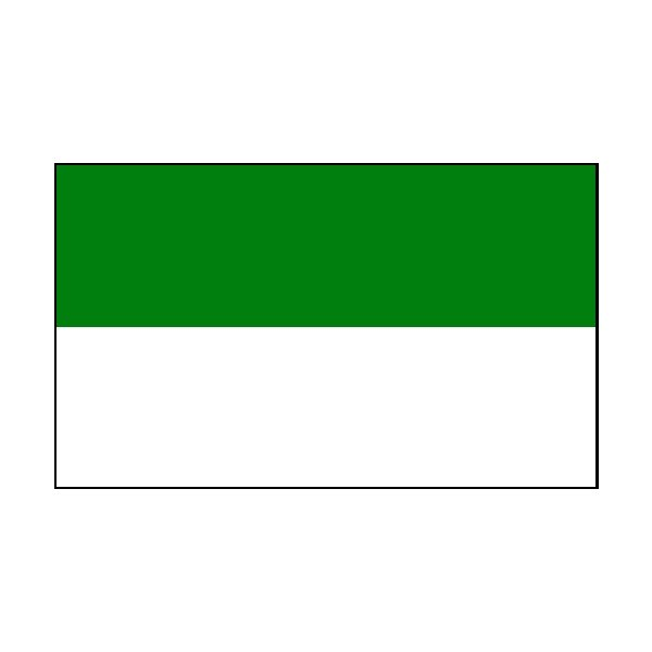 4 Corner Posts & 2 Colour Flags Green/White Flags