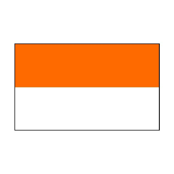 4 Corner Posts & 2 Colour Flags Orange/White Flags