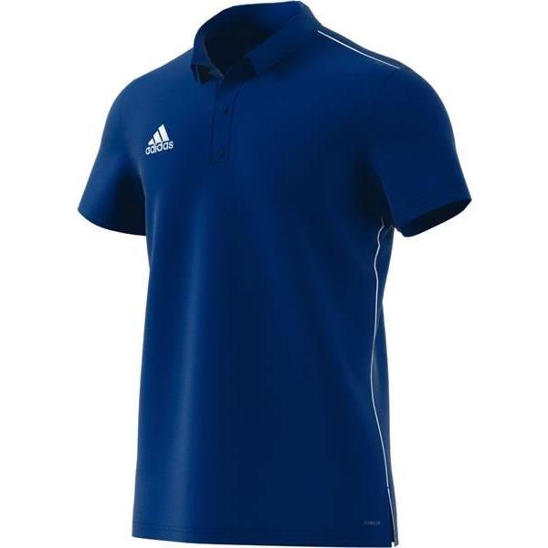adidas Core 18 Bold Blue/White Polo