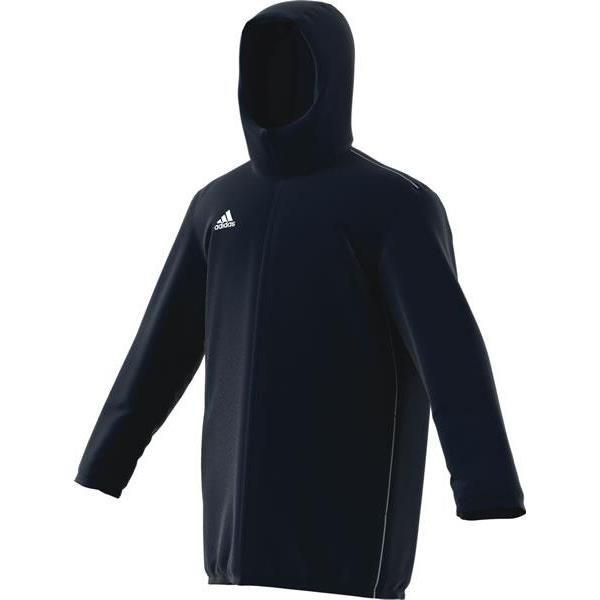 adidas Core 18 Dark Blue/White Stadium Jacket