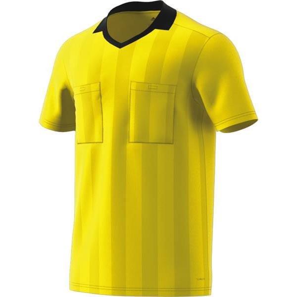 adidas REF 18 Shock Yellow Short Sleeve Jersey