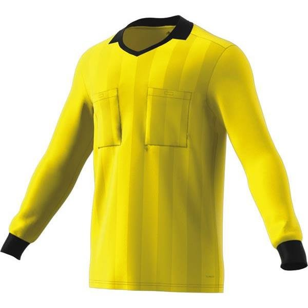adidas REF 18 Shock Yellow Long Sleeve Jersey