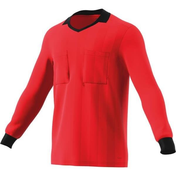 adidas REF 18 Bright Red Long Sleeve Jersey