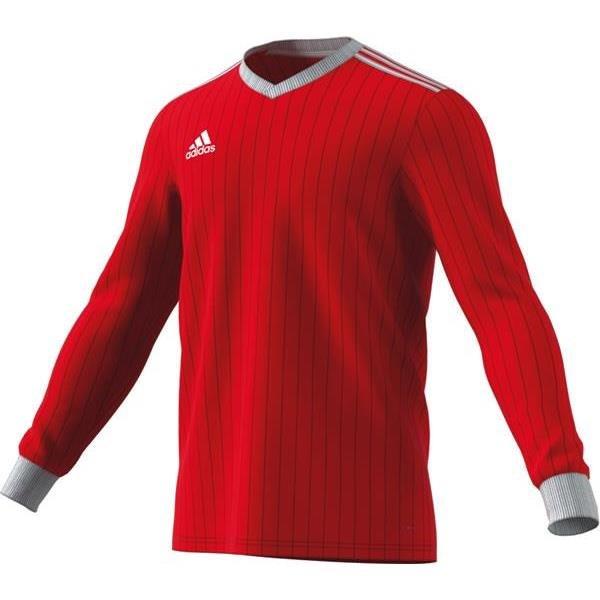 adidas Tabela 18 LS Power Red/White Football Shirt