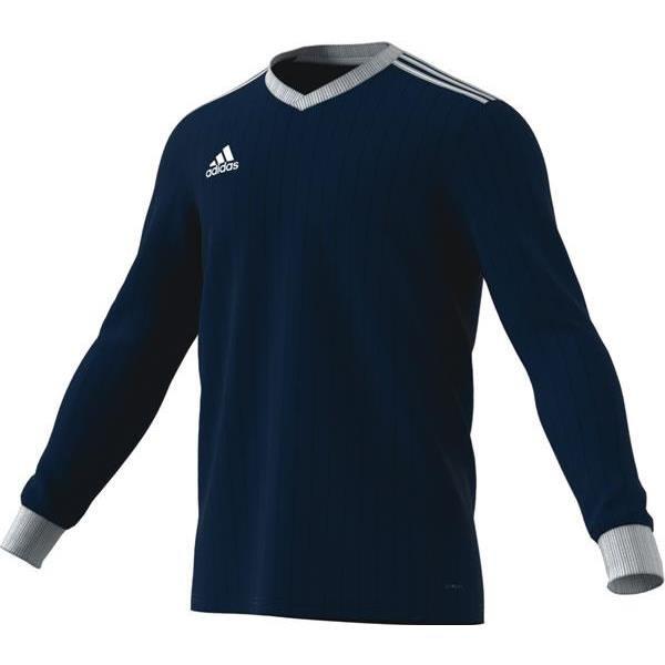 adidas Tabela 18 LS Dark Blue/White Football Shirt