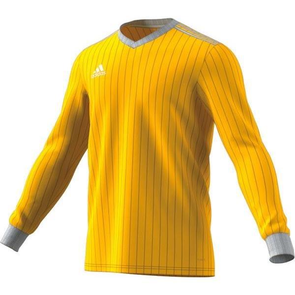 adidas Tabela 18 LS Yellow/White Football Shirt