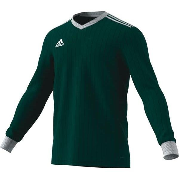 adidas Tabela 18 LS Collegiate Green/White Football Shirt