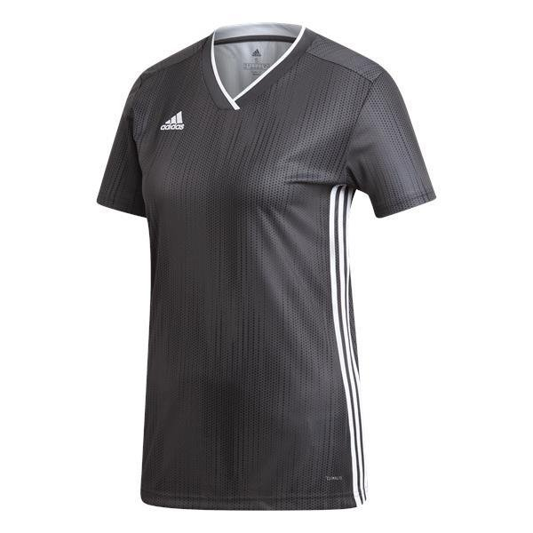 adidas Tiro 19 Womens Solid Grey White Football Shirt febe297814