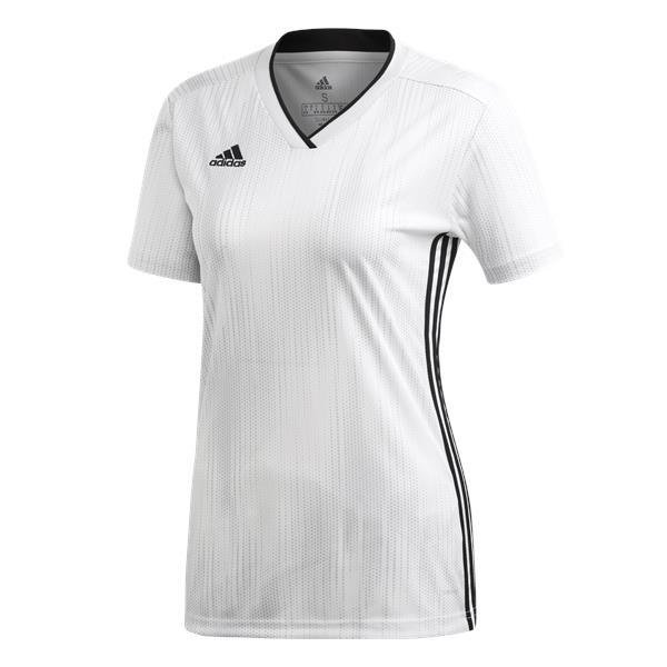 adidas Tiro 19 Womens Football Shirt White/black