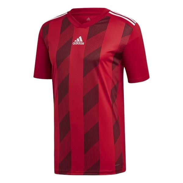 adidas Striped 19 Power Red/White SS Football Shirt