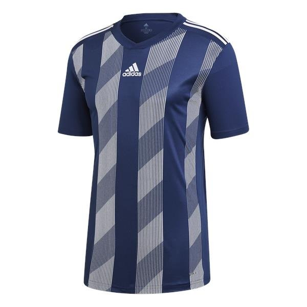 adidas Striped 19 Dark Blue/White SS Football Shirt