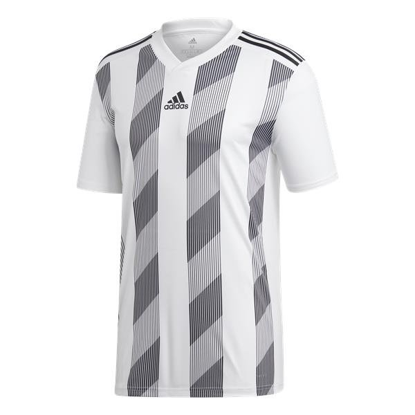 adidas Striped 19 SS Football Shirt White/clear Grey