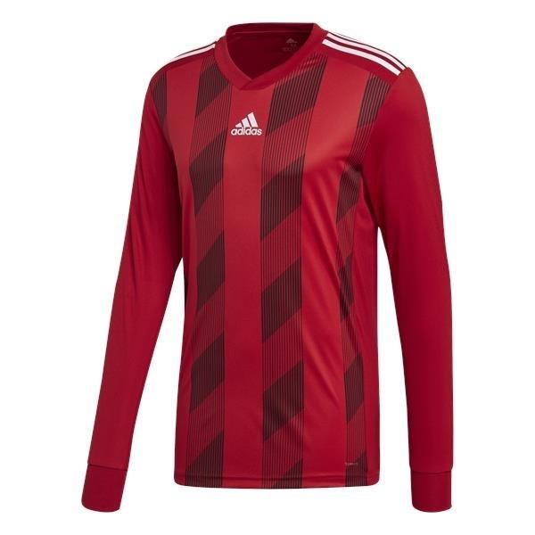 adidas Striped 19 Power Red/White LS Football Shirt
