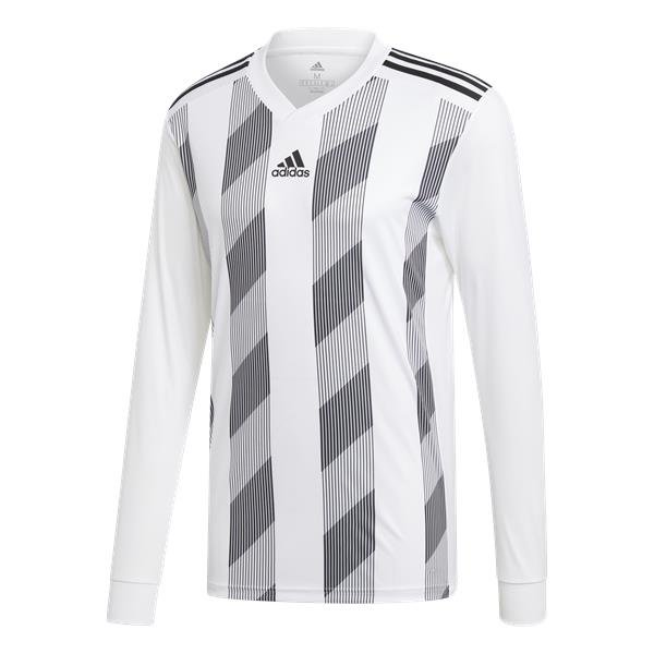 adidas Striped 19 White/Black LS Football Shirt
