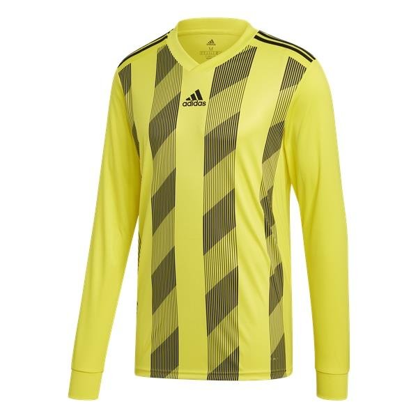 adidas Striped 19 Bright Yellow/Black LS Football Shirt