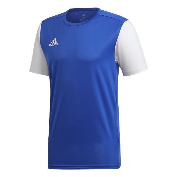 adidas Estro 19 Bold Blue/White Football Shirt
