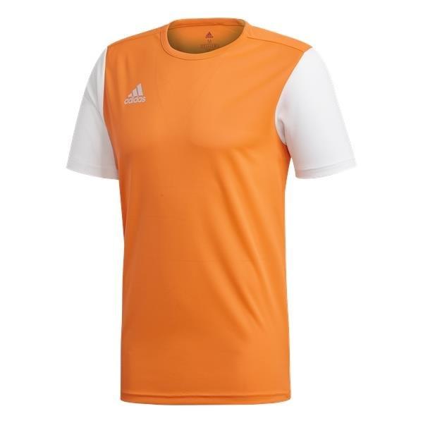 adidas Estro 19 Solar Orange/White Football Shirt