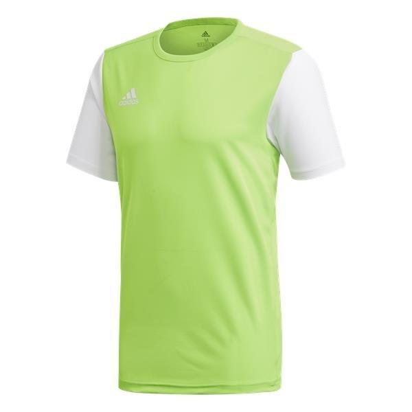 adidas Estro 19 Solar Green/White Football Shirt