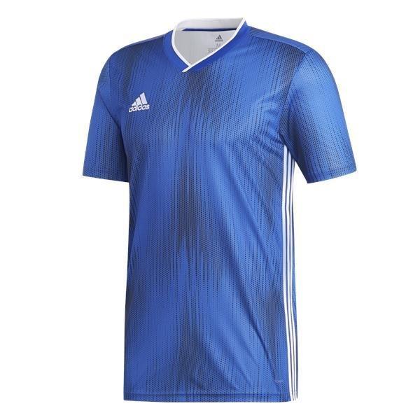 adidas Tiro 19 Bold Blue/White Football Shirt