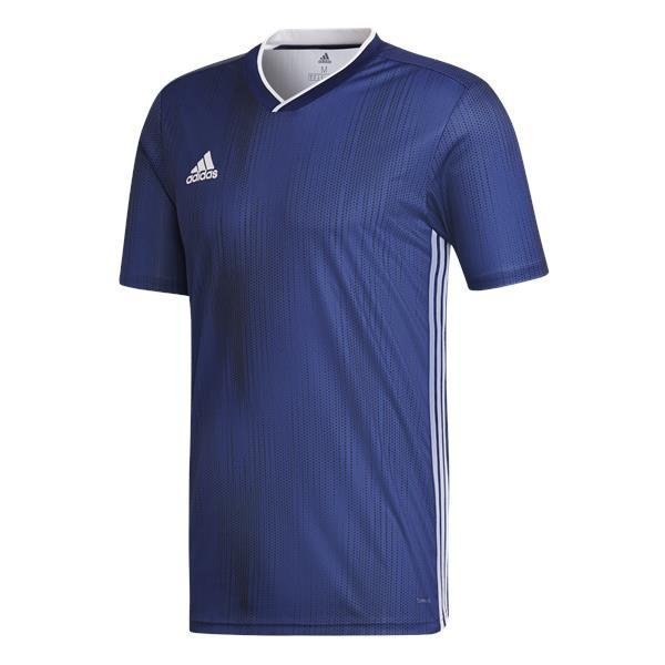 adidas Tiro 19 Dark Blue/White Football Shirt