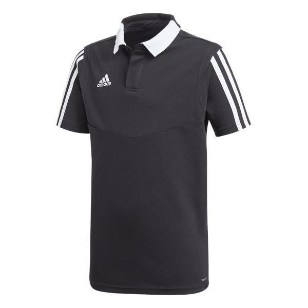 adidas tiro 19 Cotton Polo Tech Ink/white