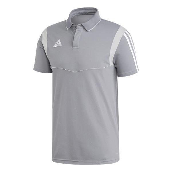 adidas tiro 19 Grey/White Cotton Polo