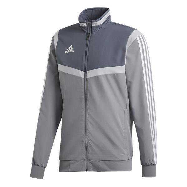 bc3083e2735 adidas tiro 19 Grey/White Presentation Jacket