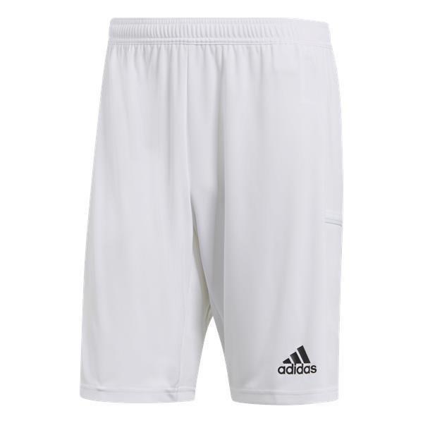 adidas Team 19 White/White Knit Shorts