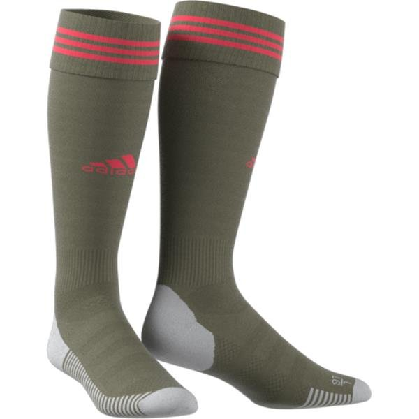 adidas ADI SOCK 18 Raw Khaki/Shock Red Football Sock
